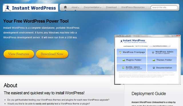 Instant WordPressのサイト キャプチャ